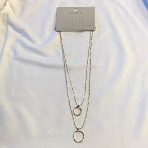 Topshop Double Circle Necklace